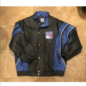 Vintage New York Rangers Starter Leather Jacket